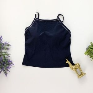 Lands' End Womans Navy Tankini
